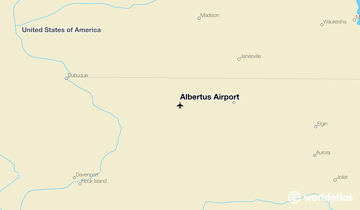 Albertus Airport location on a map