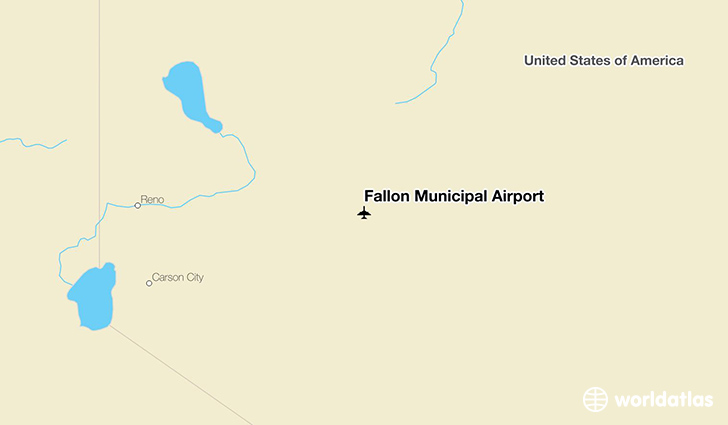Fallon Municipal Airport location on a map