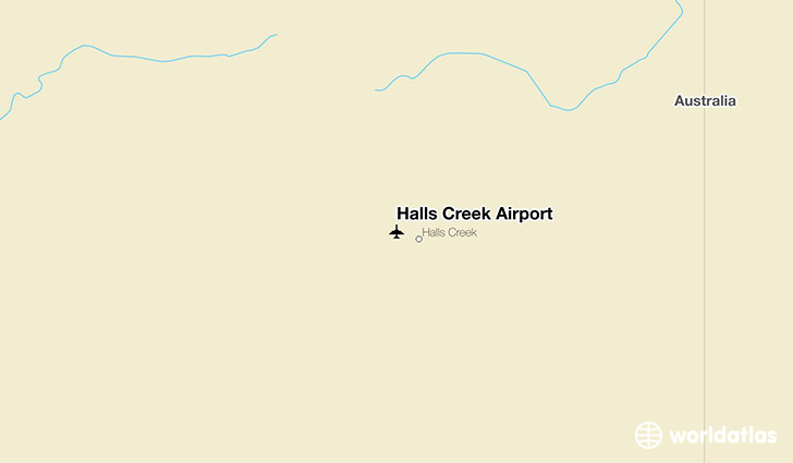 Halls Creek Airport location on a map