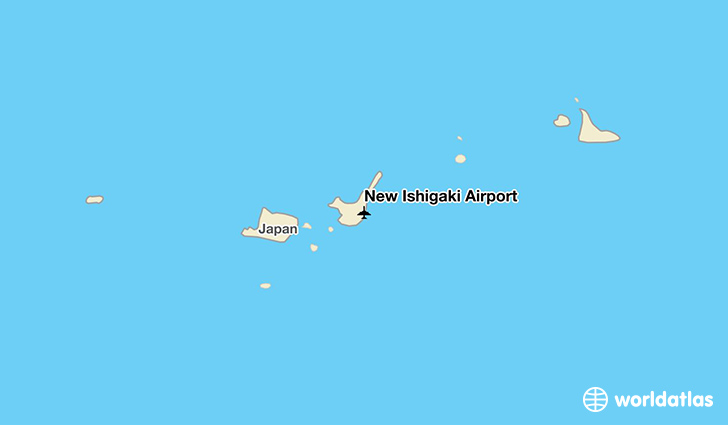 New Ishigaki Airport location on a map