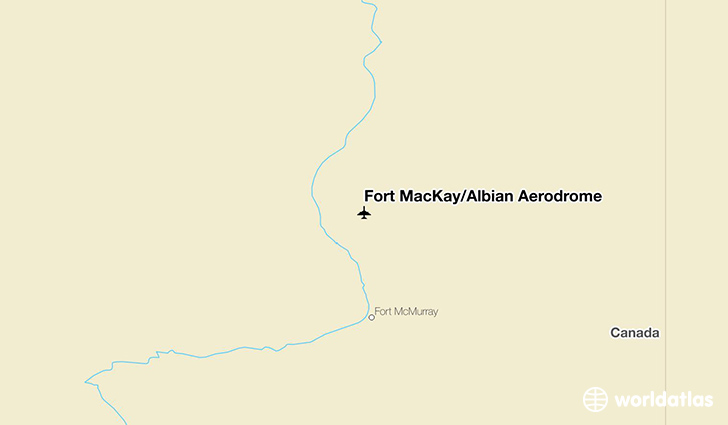 Fort MacKay/Albian Aerodrome location on a map
