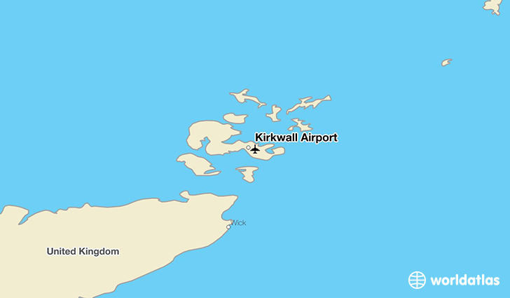 Kirkwall Airport location on a map