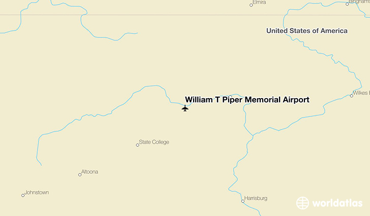 William T Piper Memorial Airport location on a map