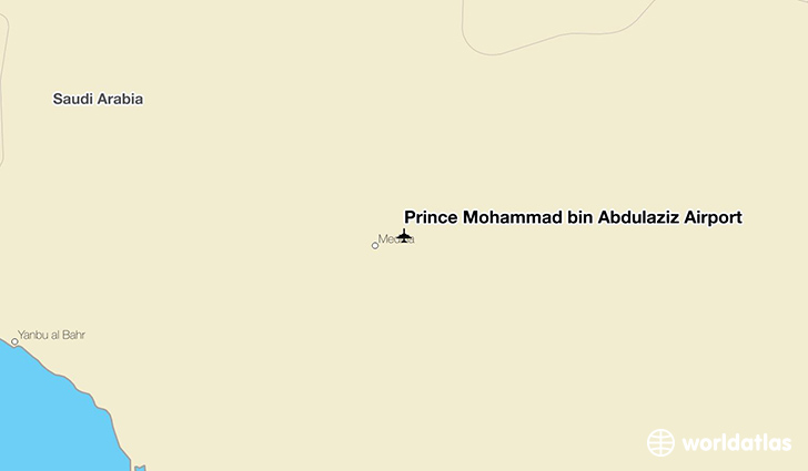 Prince Mohammad bin Abdulaziz Airport location on a map