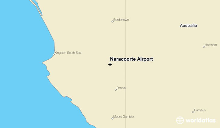 Naracoorte Airport location on a map