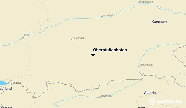 Oberpfaffenhofen location on a map