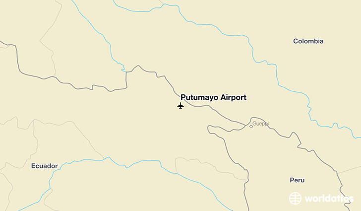 Putumayo Airport location on a map