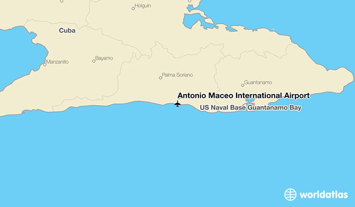 Antonio Maceo International Airport location on a map