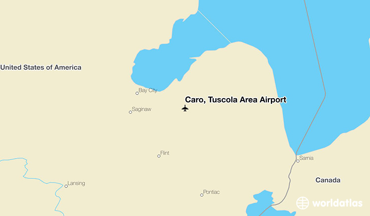 Caro, Tuscola Area Airport location on a map