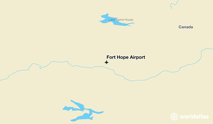 Fort Hope Airport location on a map