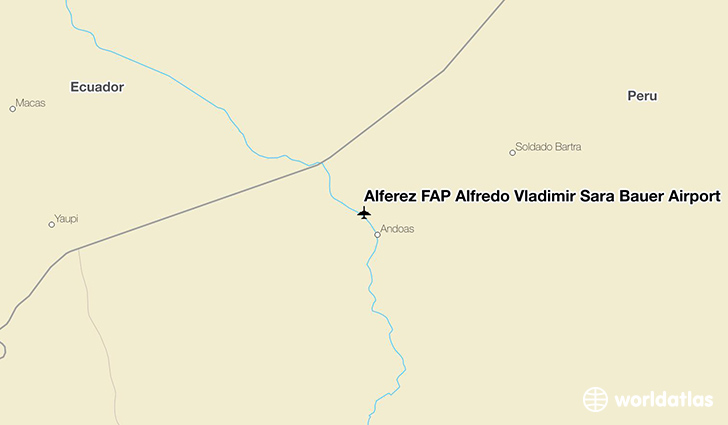 Alférez FAP Alfredo Vladimir Sara Bauer Airport location on a map