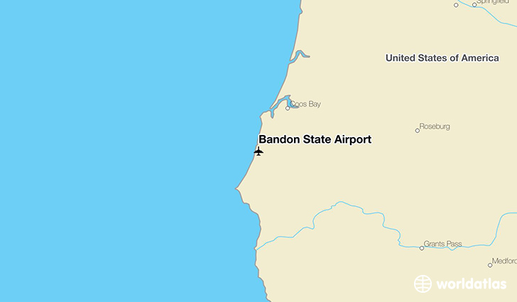 Bandon State Airport location on a map