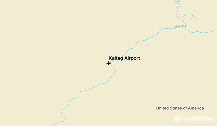 Kaltag Airport location on a map
