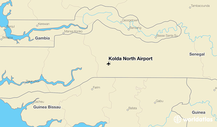 Kolda North Airport location on a map