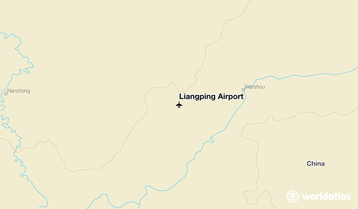 Liangping Airport location on a map