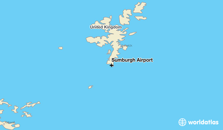 Sumburgh Airport location on a map
