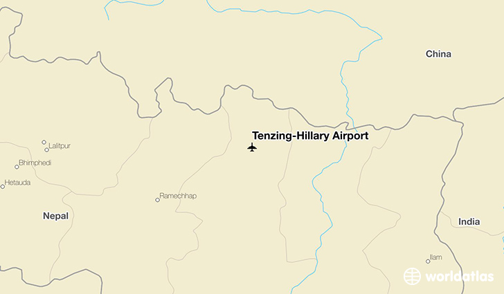 Tenzing-Hillary Airport location on a map