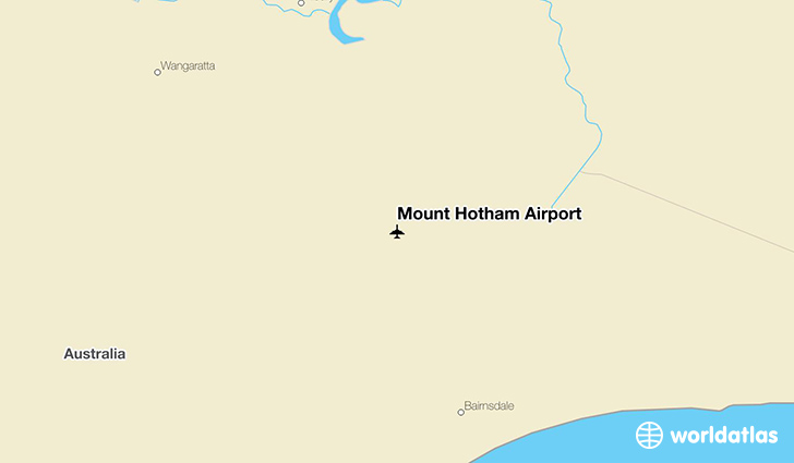 Mount Hotham Airport location on a map