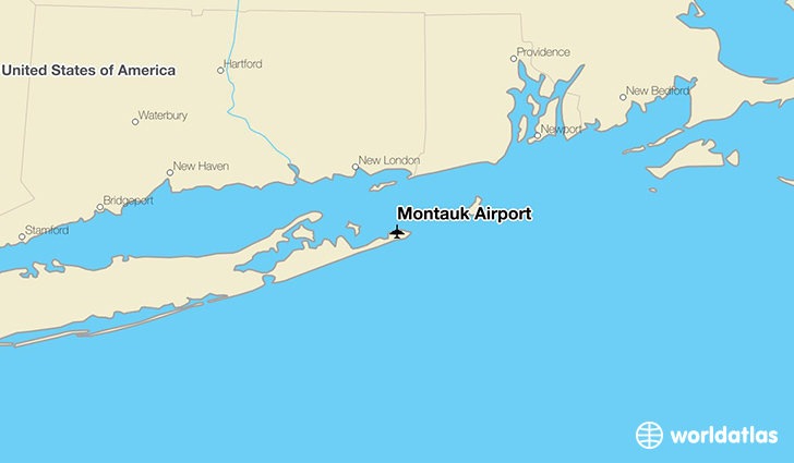 Montauk Airport location on a map