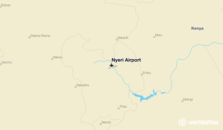 Nyeri Airport location on a map