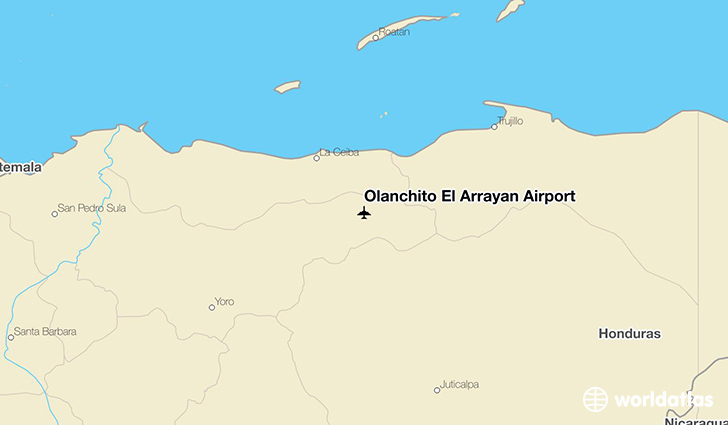 Olanchito El Arrayán Airport location on a map