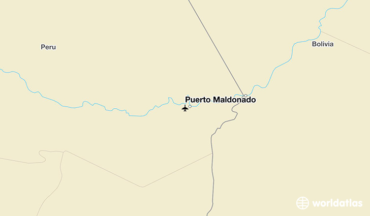 Puerto Maldonado location on a map