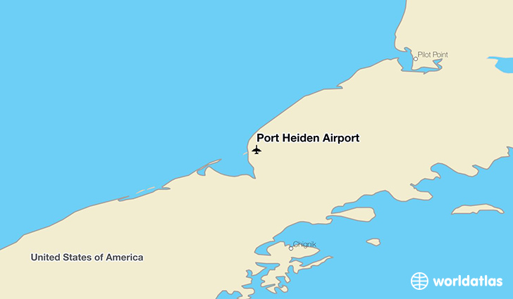 Port Heiden Airport location on a map