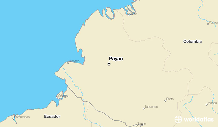 Payan location on a map