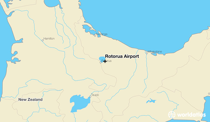 Rotorua Airport location on a map