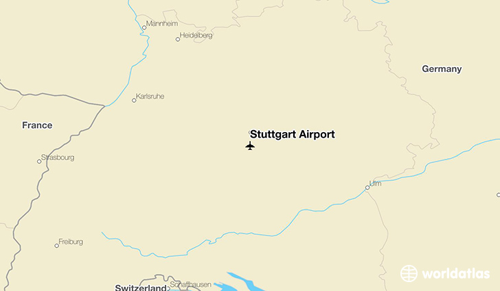 Stuttgart Airport location on a map