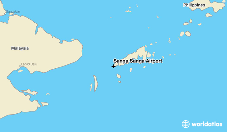 Sanga Sanga Airport location on a map