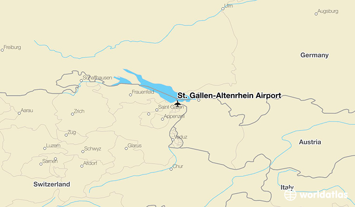 St. Gallen-Altenrhein Airport location on a map