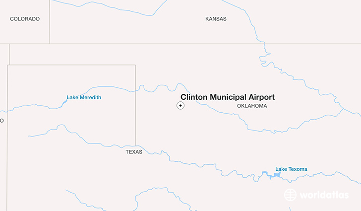 Clinton Municipal Airport location on a map
