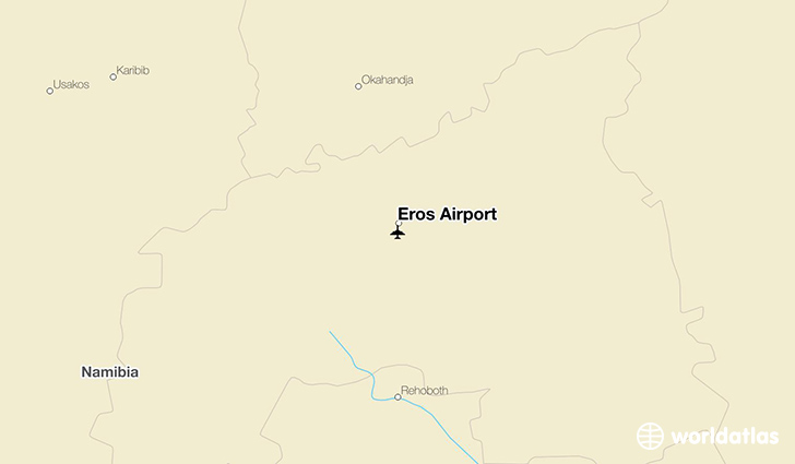 Eros Airport location on a map