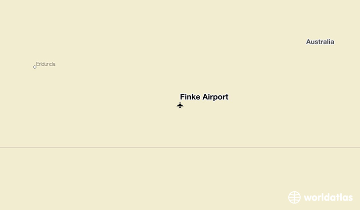 Finke Airport location on a map
