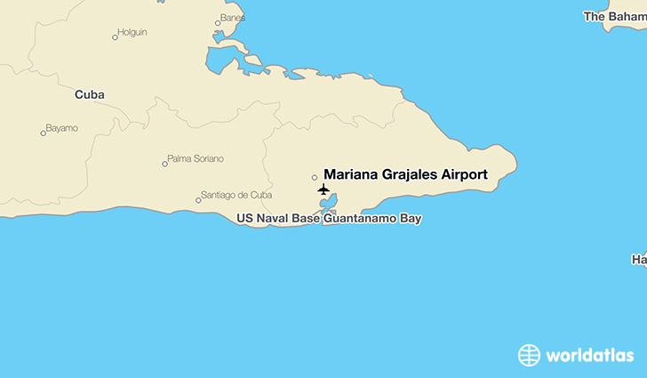 Mariana Grajales Airport location on a map