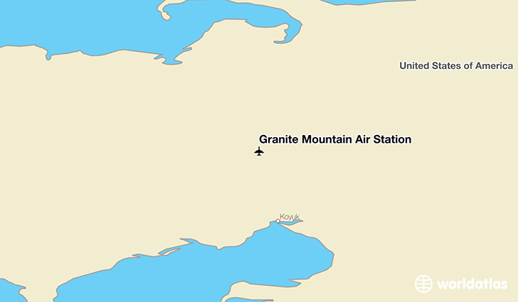 Granite Mountain Air Station location on a map