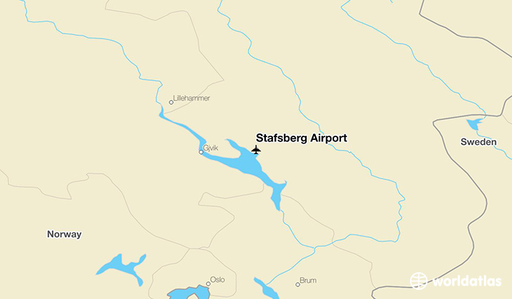 Stafsberg Airport location on a map