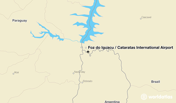Foz do Iguaçu / Cataratas International Airport location on a map