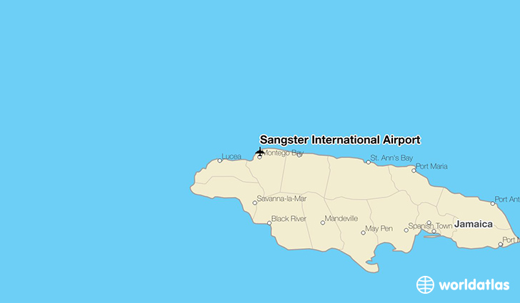 Sangster International Airport location on a map