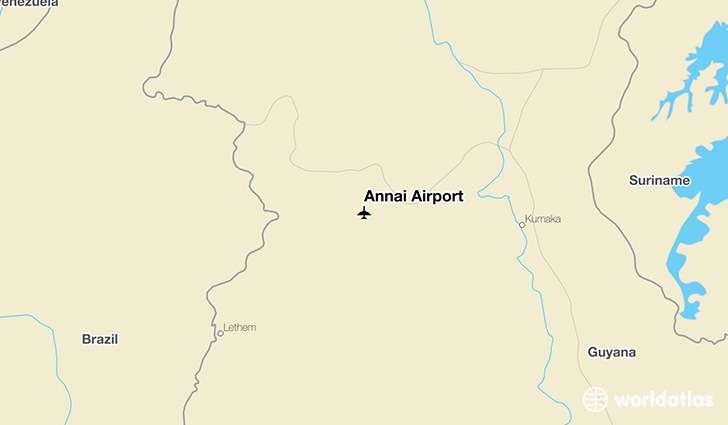 Annai Airport location on a map