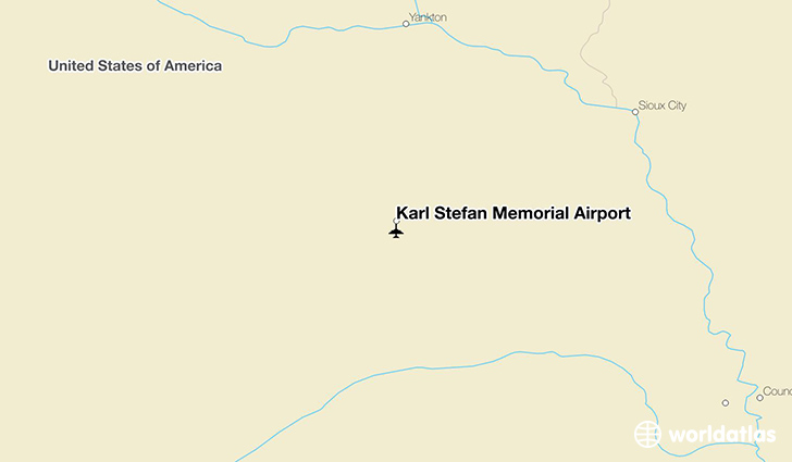 Karl Stefan Memorial Airport location on a map