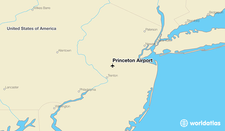 Princeton Airport location on a map