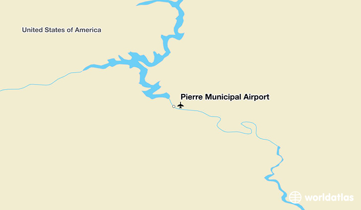 Pierre Municipal Airport location on a map