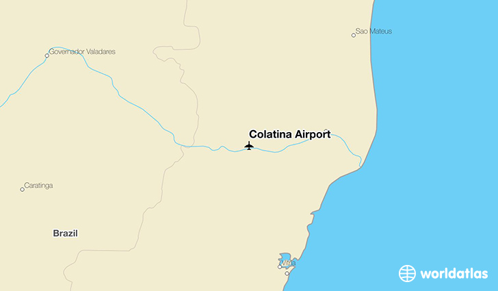 Colatina Airport location on a map