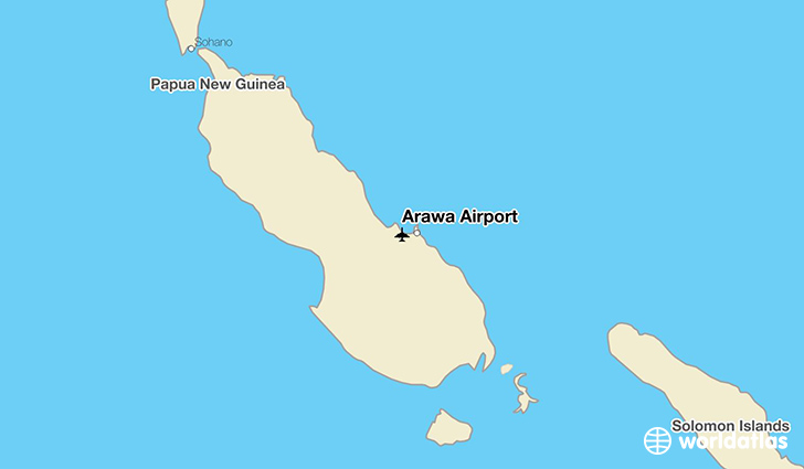 Arawa Airport location on a map