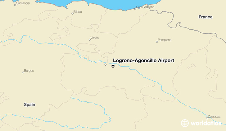 Logroño-Agoncillo Airport location on a map