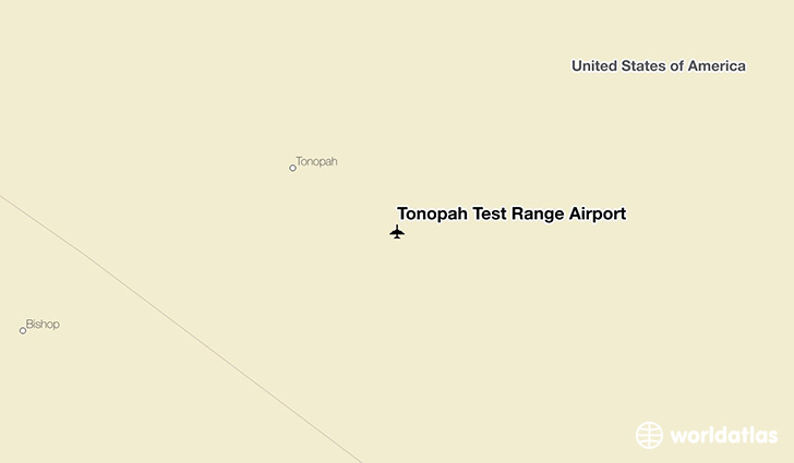 Tonopah Test Range Airport location on a map