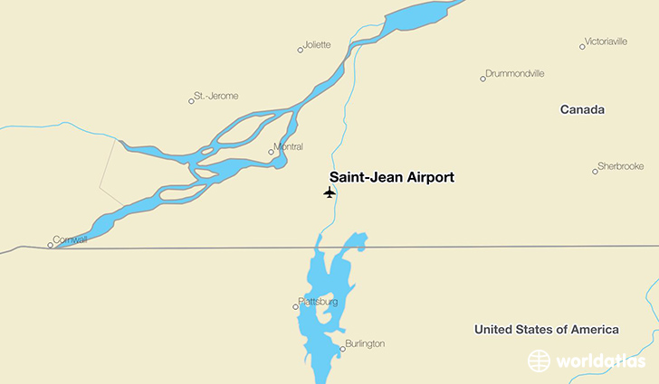 Saint-Jean Airport location on a map