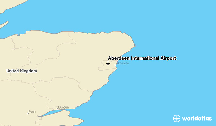 Aberdeen International Airport location on a map
